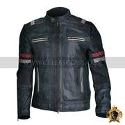 Men Vintage Biker Retro Motorcycle Cafe Racer Jacket